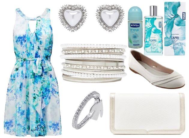 Günlük Yazlık Elbise, Mavi Kombin, Kombin adı: Rüzgar Sörfü