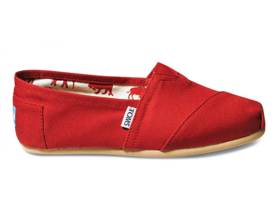 I love Toms!  You get a pair and they give a pair to a child in another country that doesn't have shoes.  I'm really liking this pair. #redshoes