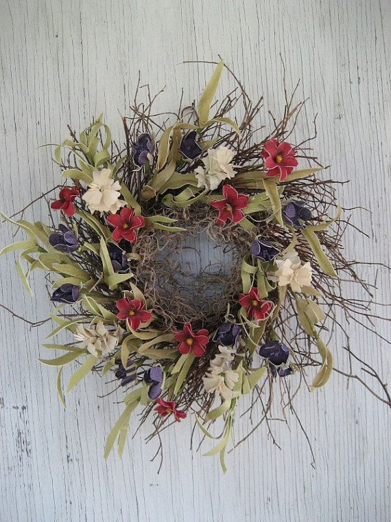 Rustic Americana wreath  Wreath for Door  by FireflyGardensByPam, $36.99