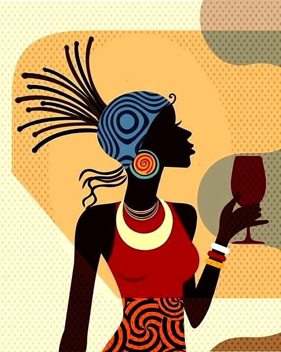 Decor, Black Woman Painting, African American Art, African wall Art, African Woman, African paintin