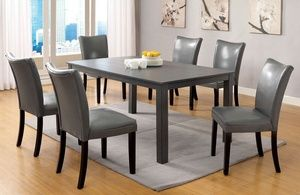 Offerup 5 Pcs Espresso Counter Height Dining Table Set