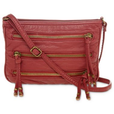 bccd1e3b0e33 Arizona Triple-Zip Crossbody Bag found at @JCPenney Comforter Sets, Handbag  Accessories,