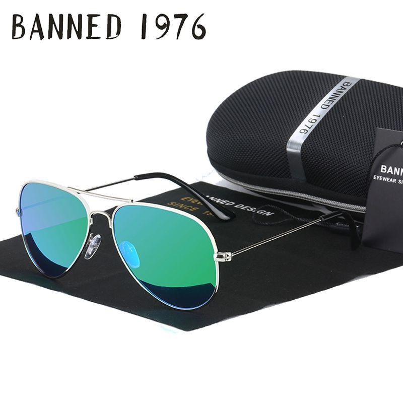 73846d600e BANNED 1976 classic HD polarized metal frame aviation sunglasses classic  design women men feminin brand oculos vintage glasses