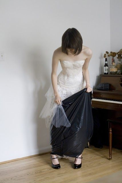 How To In A Wedding Dress Using Garbage Bag D I Know