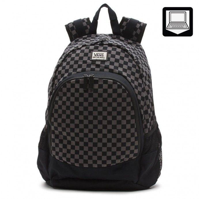 eab27c92aa Vans Van Doren Backpack Black Charcoal - Vans UK Official Online Store
