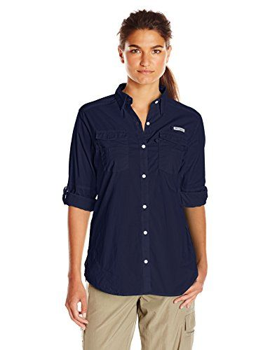 Columbia Sportswear Women's Bonehead II W Long Sleeve Shirt, X-Small,  Collegiate Navy