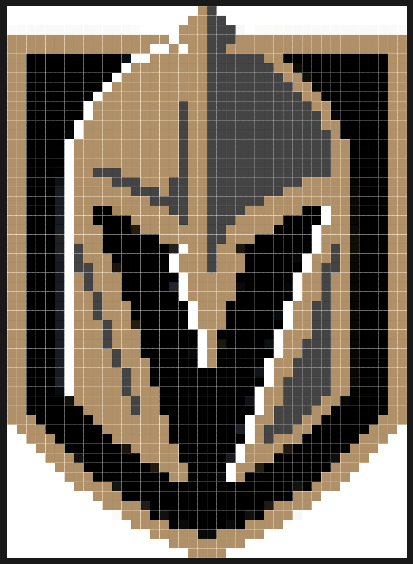 Vegas Golden Knights Nhl Pixel Art Hama Beads Vegas