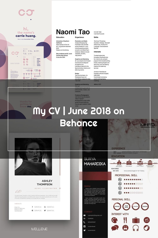 My Cv June 2018 On Behance In 2020 Graphic Design Resume My Cv Behance