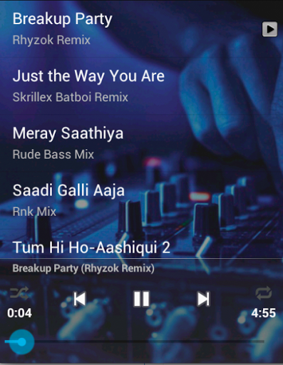 TOP HINDI REMIX is an music app made for all you bollywood music fans who loves Hindi Remix Songs.<br>By this application you can listen to the Best of Hindi Remix Songs anywhere, anytime on mobile phone app absolutely FREE!!<p>New Playlist Updated for 2014!!<p>Listen to the greatest Hindi Remix Songs of our times and Enjoy an endless collection of songs.<p>You can set the latest songs as a Ringtone from the application and listen to whenever you want and Feel!!<p>Music-Friendly…