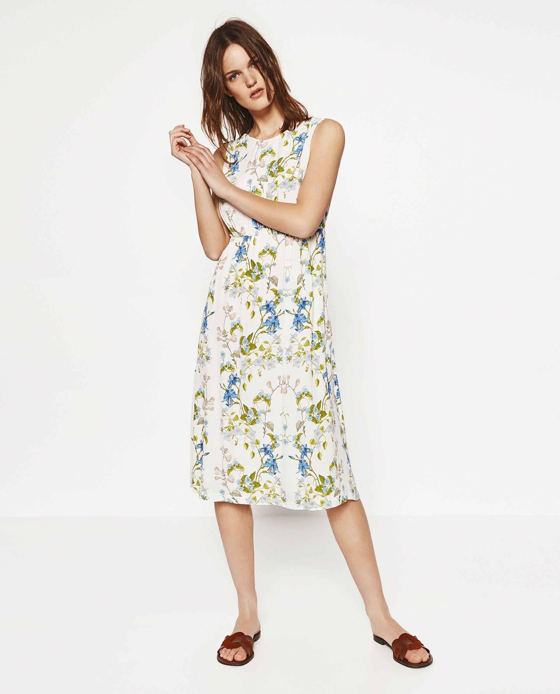 Image de robe À fleurs avec nŒud au dos de zara fashion pinterest