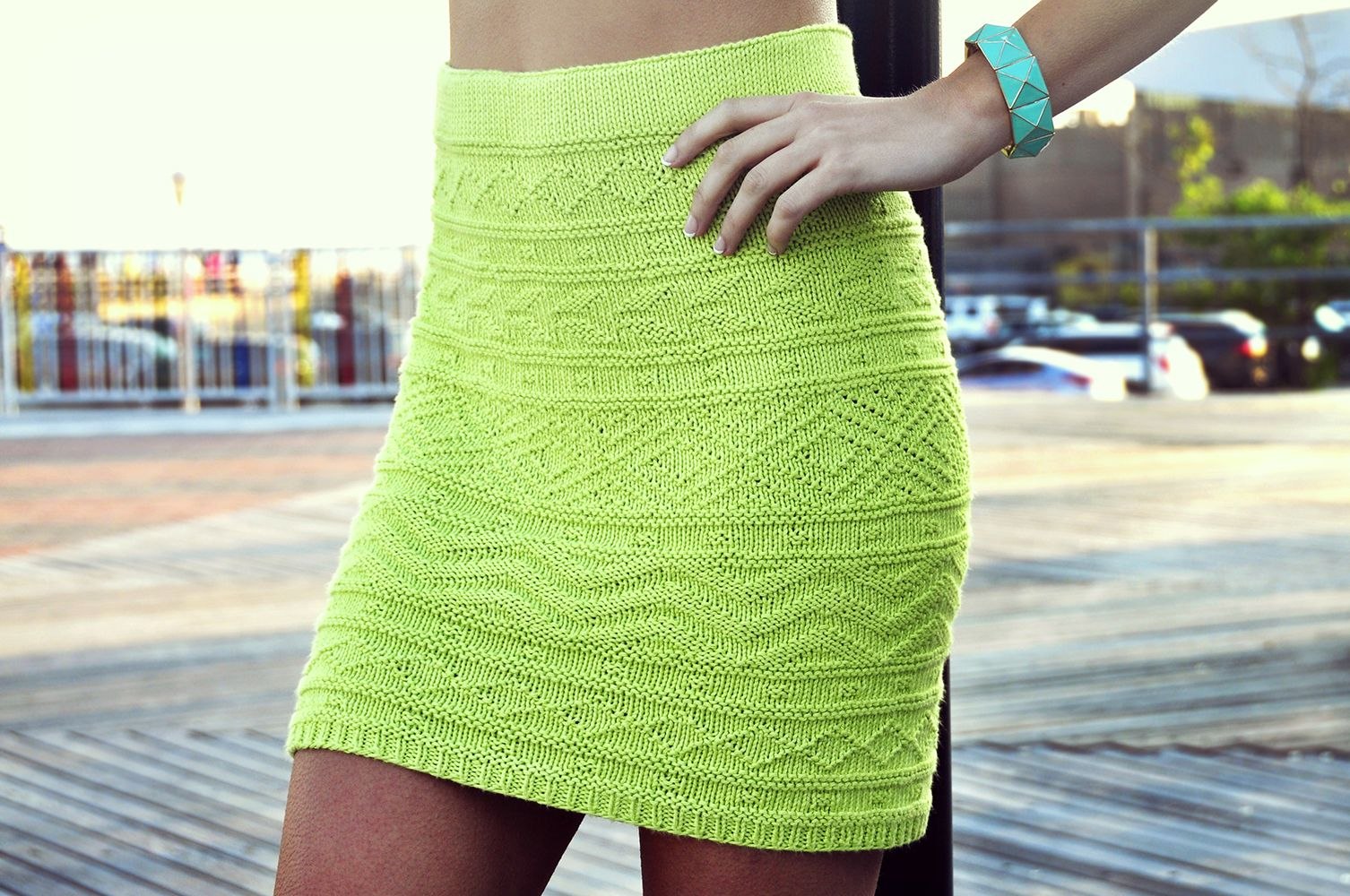 shes electric aztec pattern knitted bodycon skirt knitting pattern 4 ...