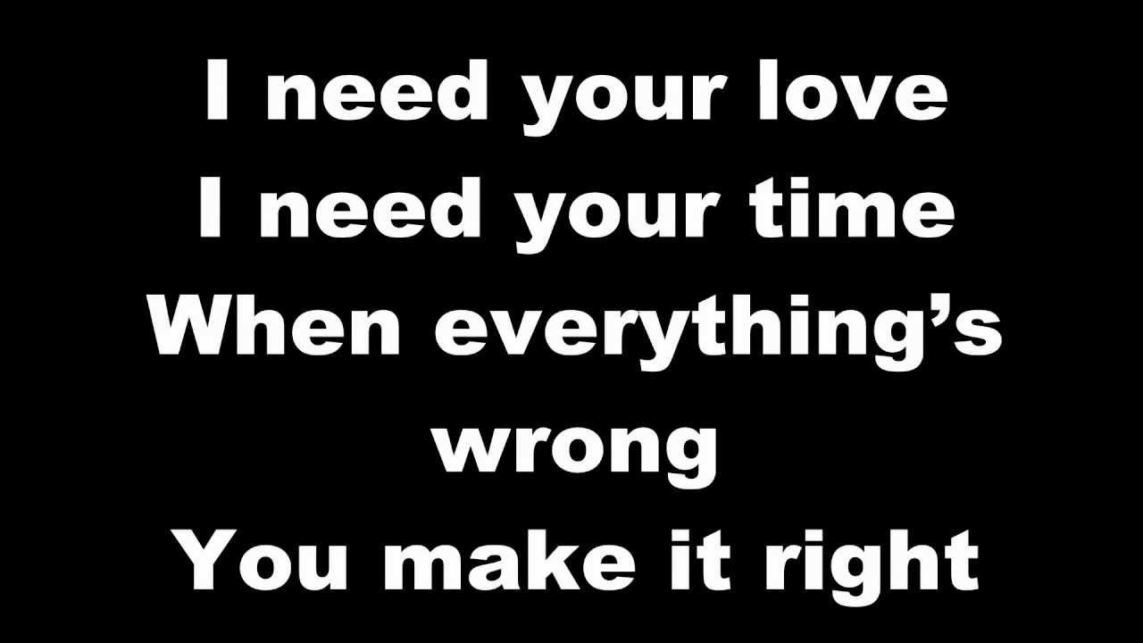 I need your love letra español ellie goulding