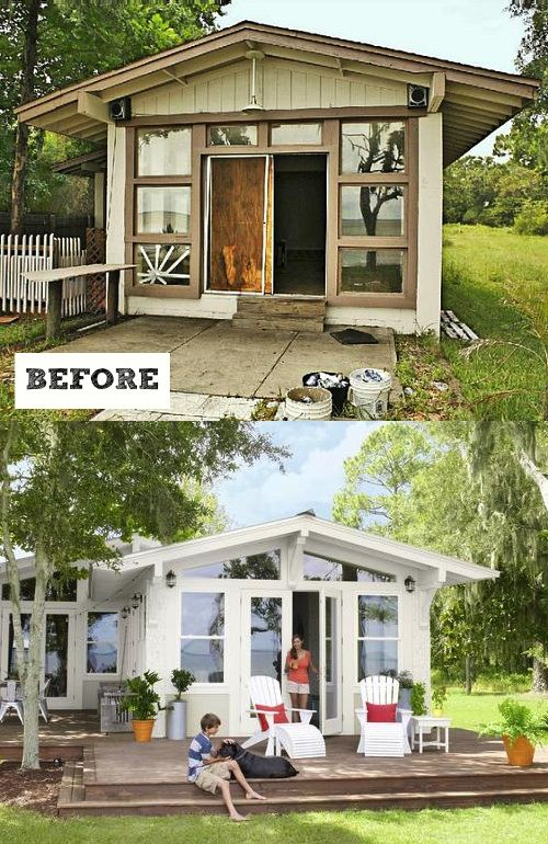 Pequena cabana vira casa da praia