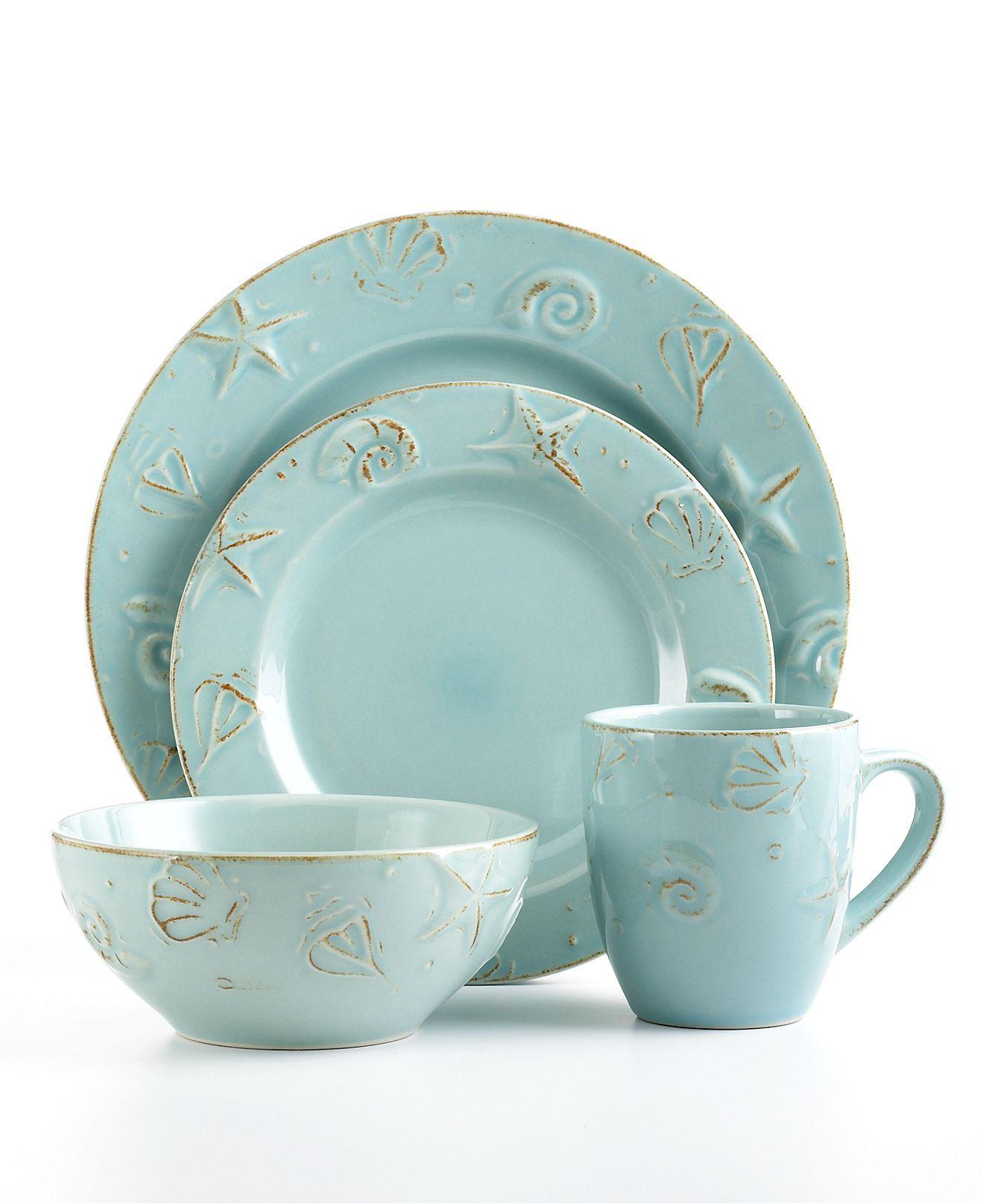 Thomson Pottery Dinnerware Cape Cod 16 Piece Set Casual