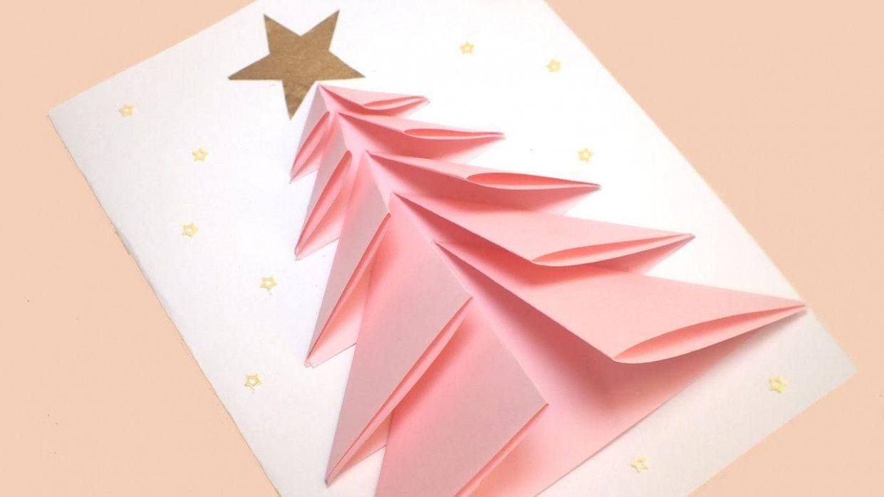 Kagaj Ka Greeting Card Banana Diy Christmas Cards Christmas Tree Crafts Christmas Origami