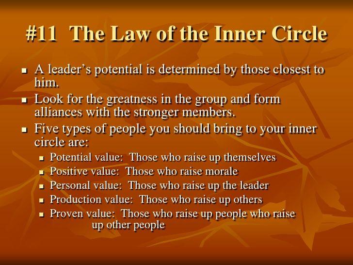 irrefutable laws of leadership pdf