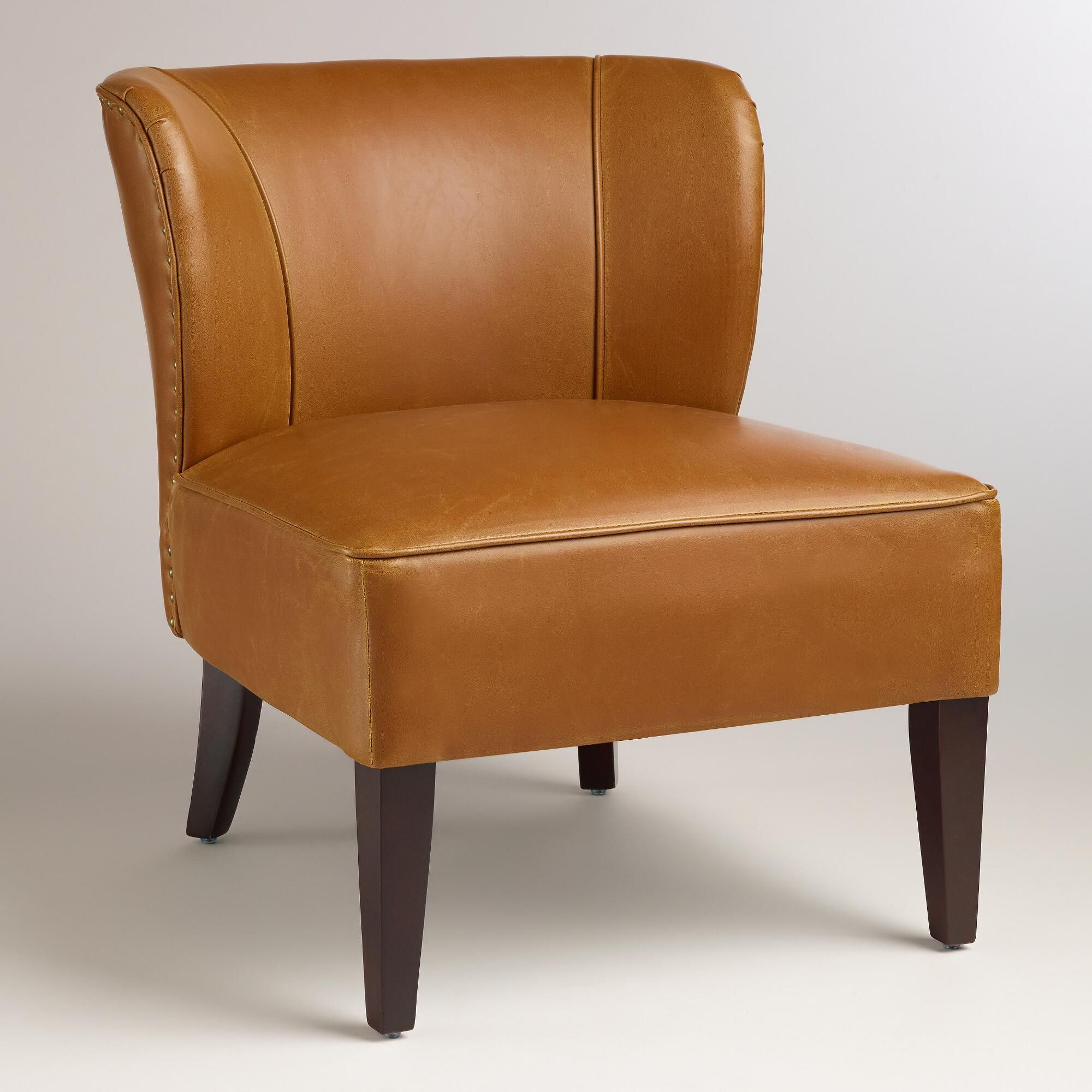 Attrayant Caramel Quincy Leather Chair | World Market