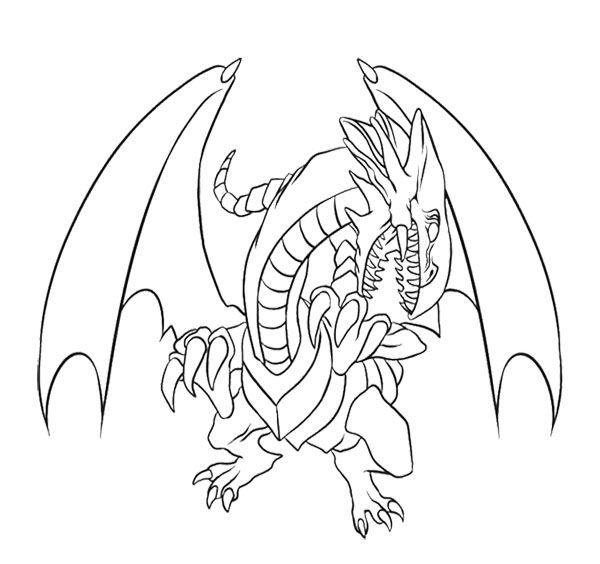 Blue Eyes White Dragon Coloring Page For Kids | Kids Coloring Pages ...