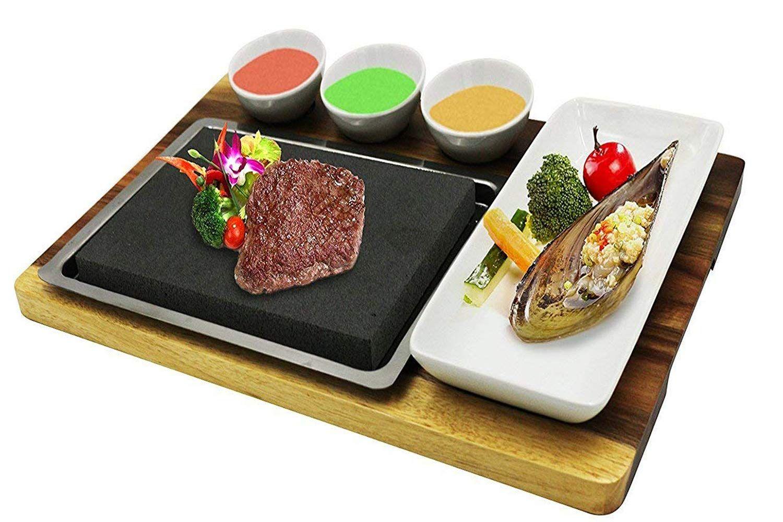 Fecihor cooking stones set steak cooking rocks set include