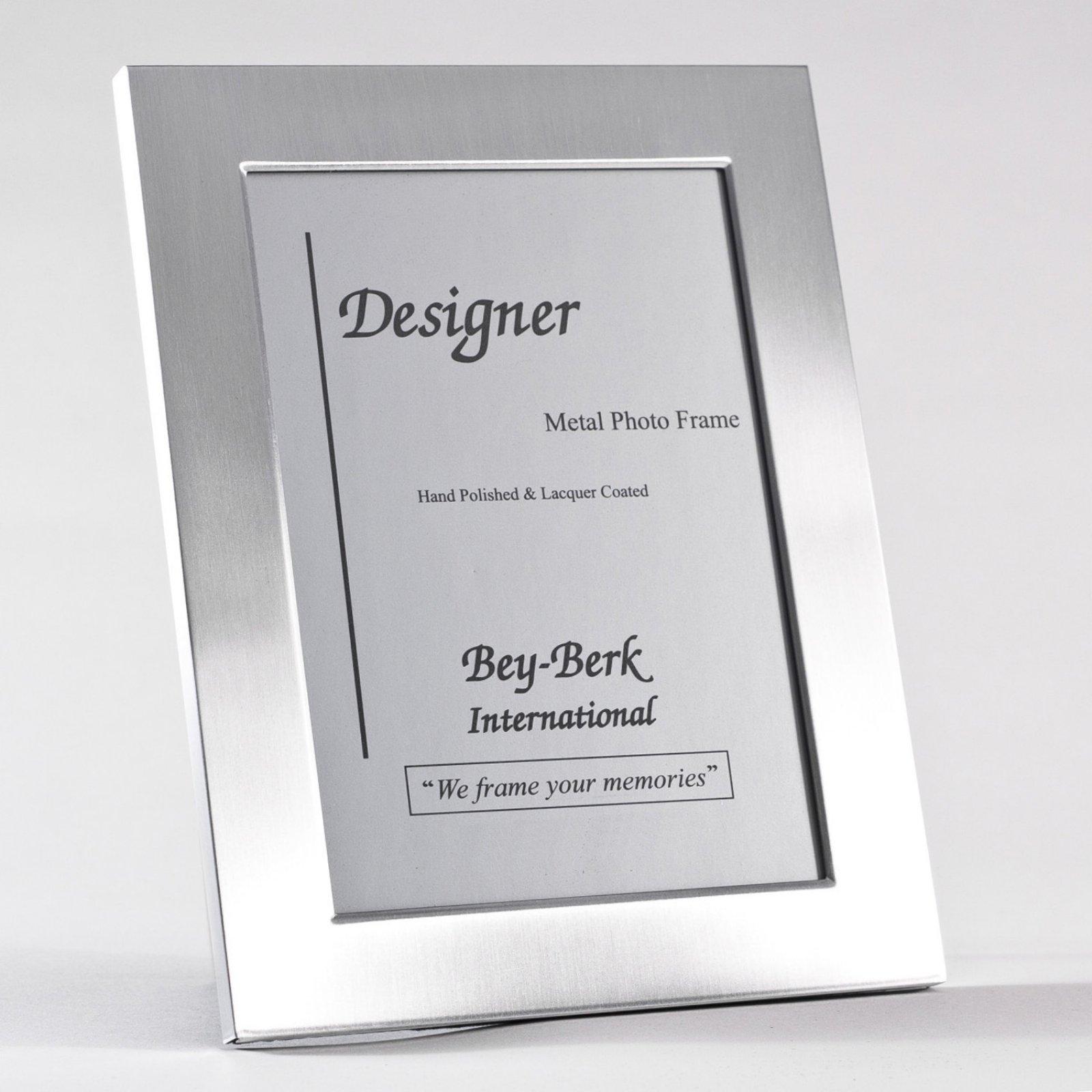 Bey Berk Sf82 12 Brushed Metal 8 X 10 In Photo Frame Tarnish Proof Frame Photo Frame Brushed Metal