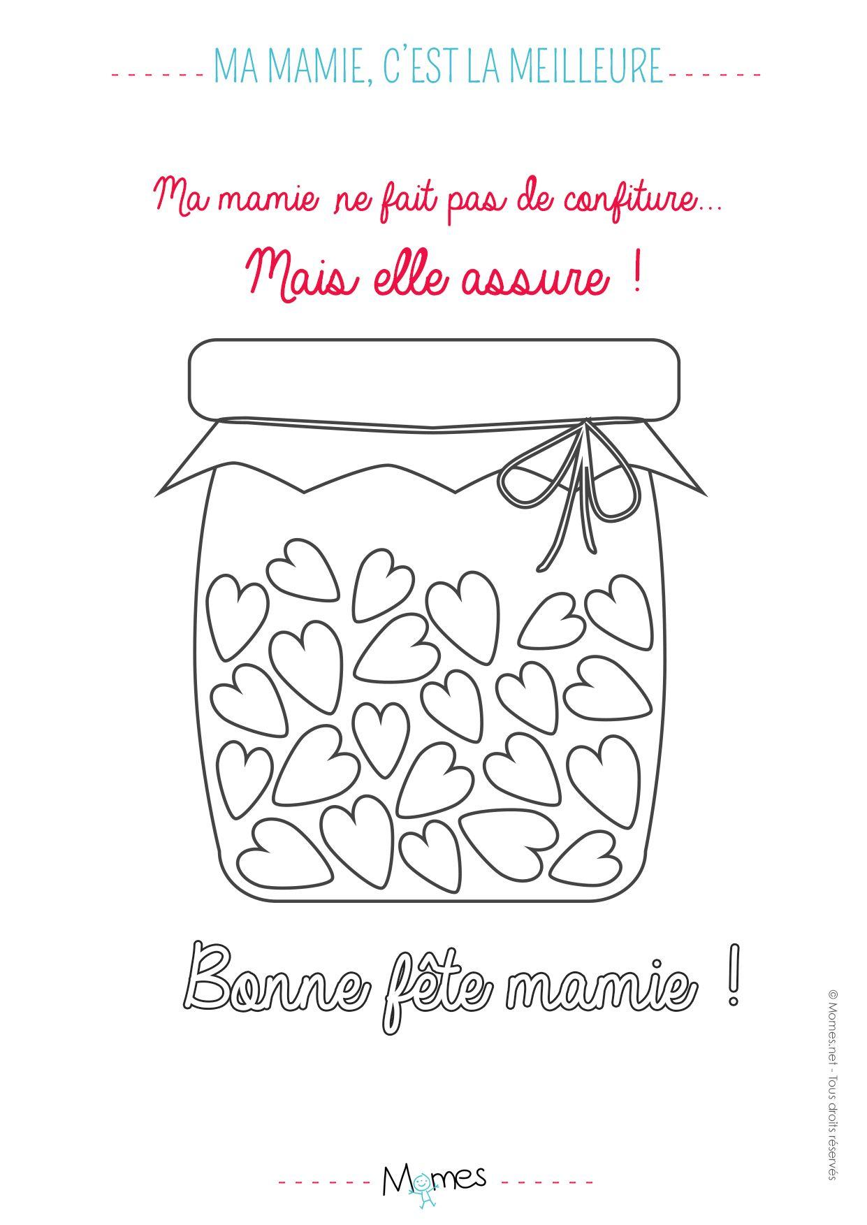 Coloriage Ma Mamie C Est La Meilleure Confiture Coloriage Creations Pour Fete Des Meres Jeux Coloriage