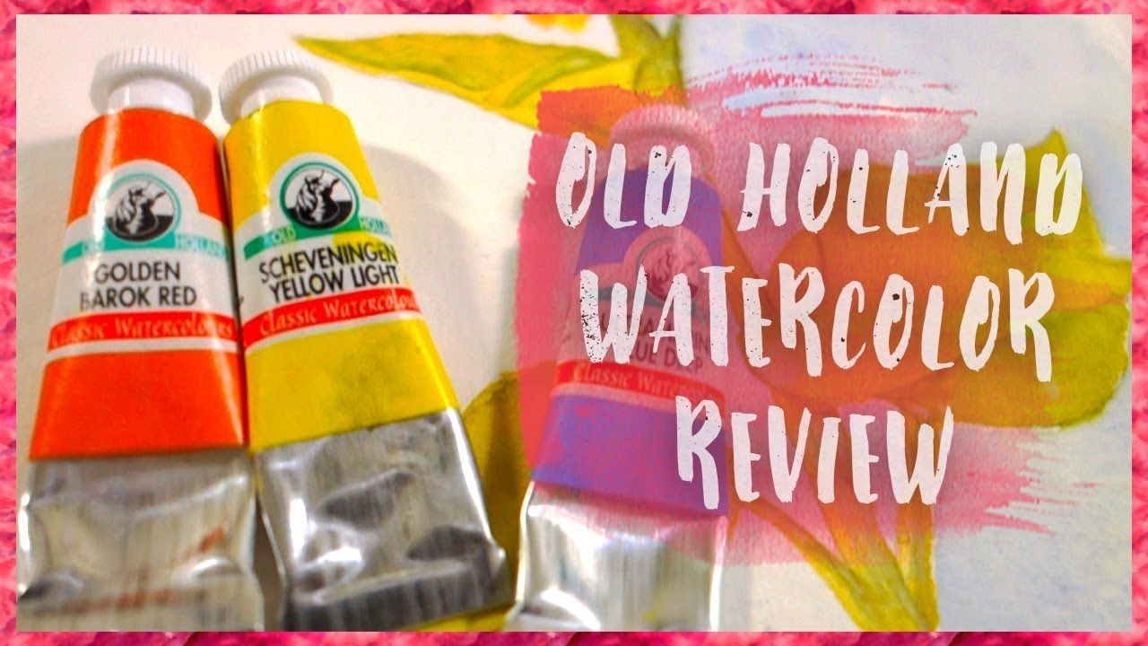 Old Holland Watercolor Art Supply Review 해바라기