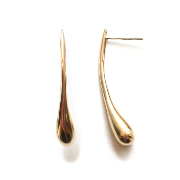 Story A hand cast stud, this molten droplet of brass is an elegant addition...