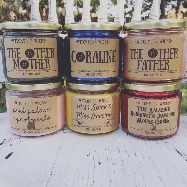 Coraline 6 Candle Combo Pack Etsy Soy Wax Candles 6 Candles Soy Wax