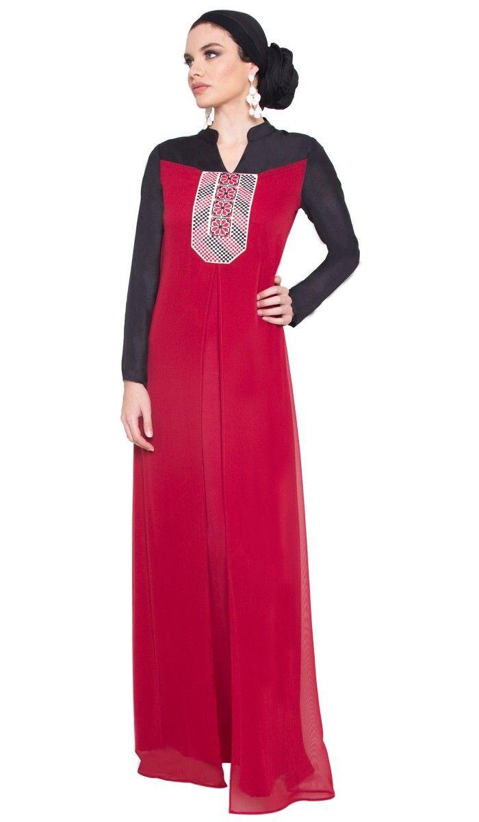 Maroon long maxi dress