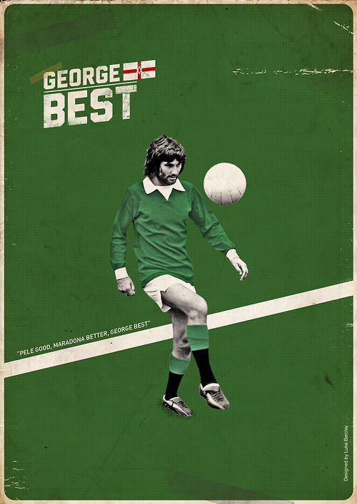 George Best Manchester United And Northern Ireland George Best Football Poster Manchester United Football