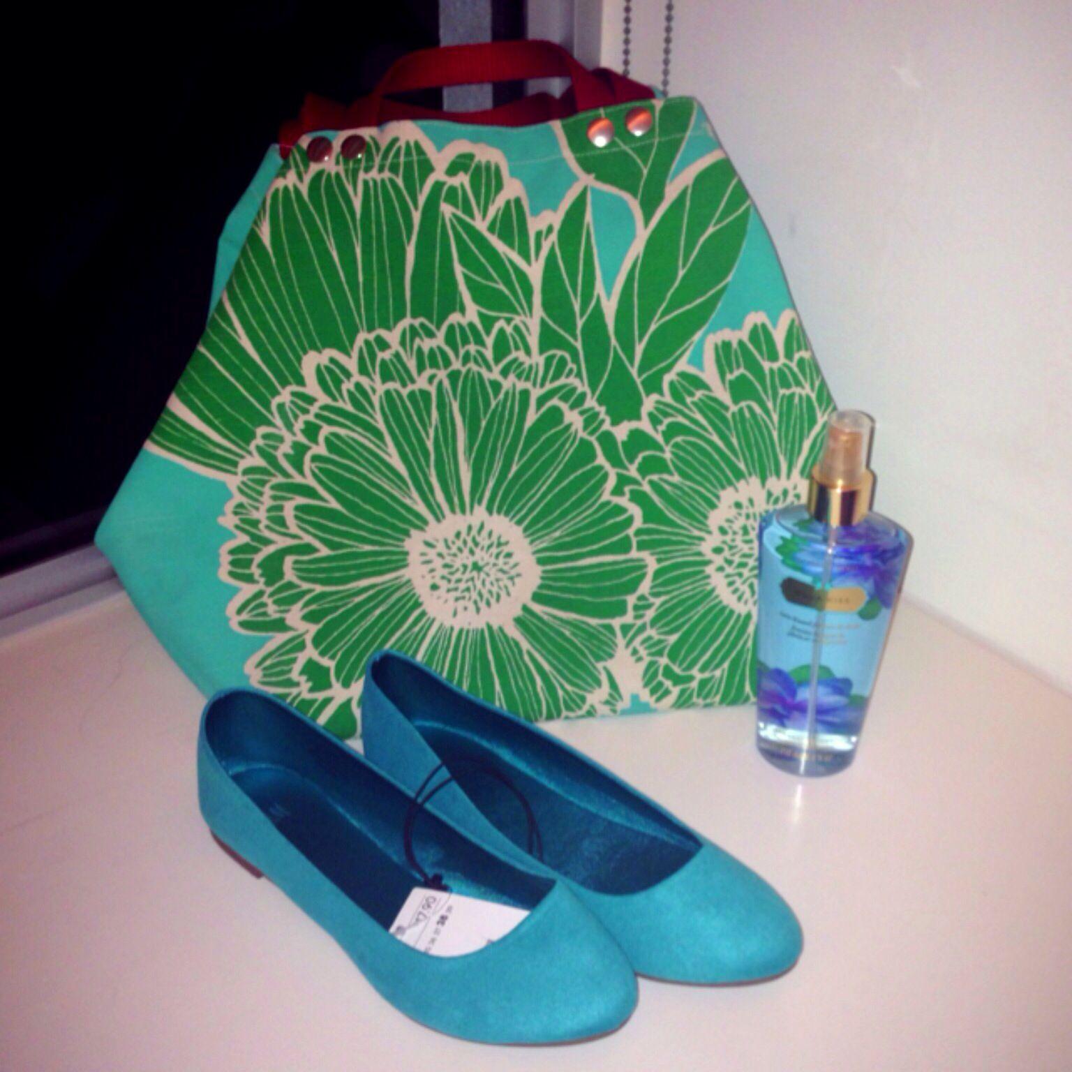 Turquoise, Hobo Tote @Tulisan
