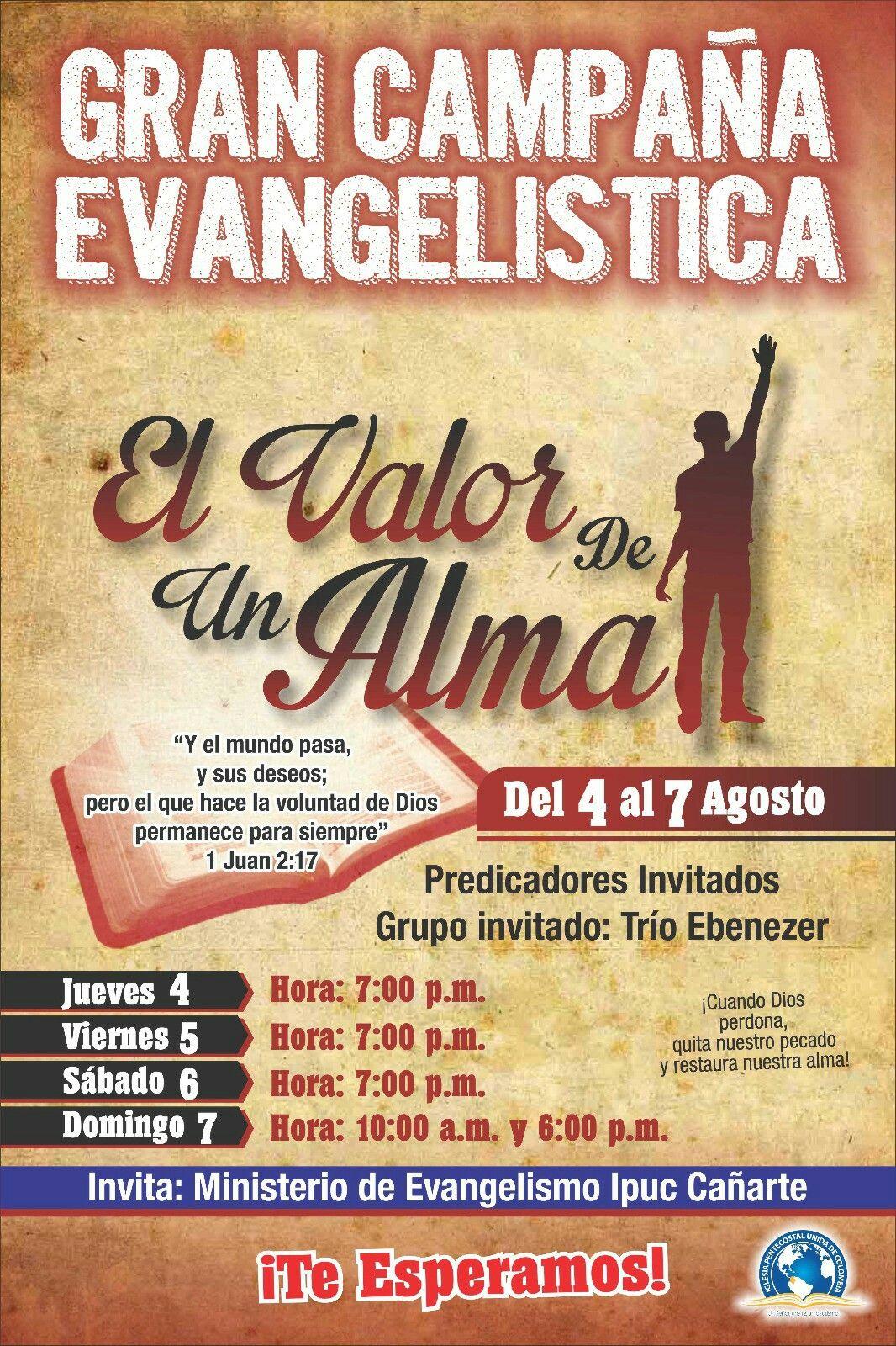 Campaña Evangelistica Campanita Eventos Y 7 Agosto