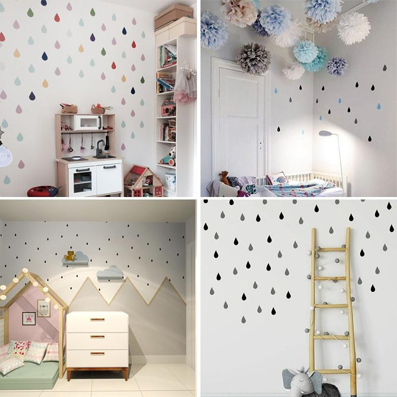 Small Raindrop Wall Sticker For Kids Room Baby Girl Room Wall