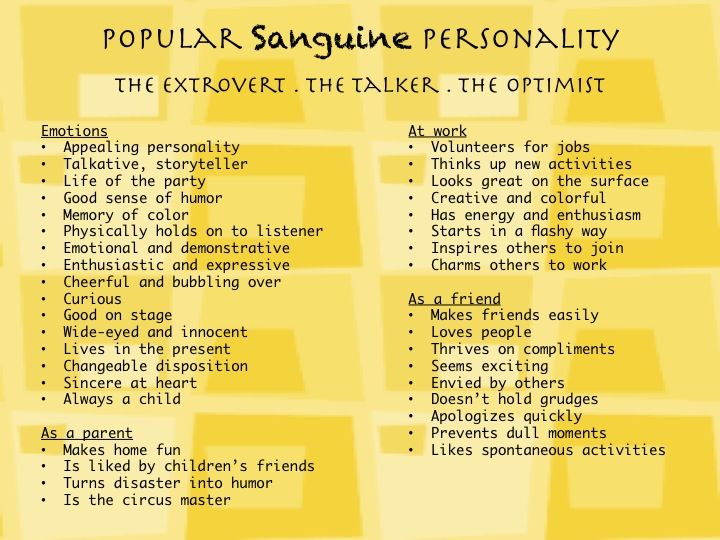 the sanguine personality