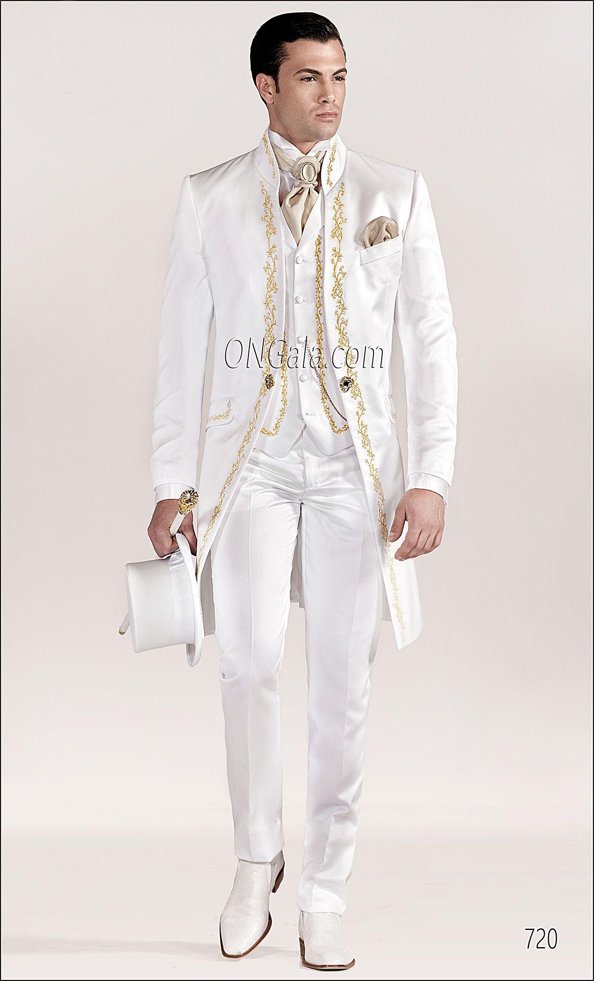 Abito da sposo Barocco ricamato bianco-oro | Wedding | Pinterest ...