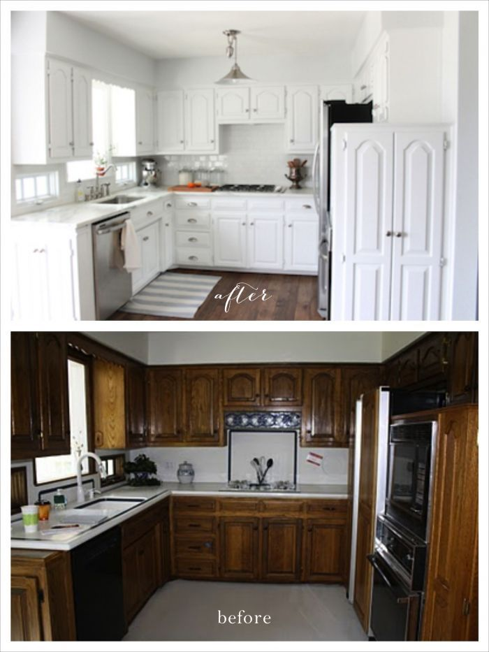 White Kitchen Remodel Before And After we did it! our kitchen remodel | kitchens, diy kitchen remodel and