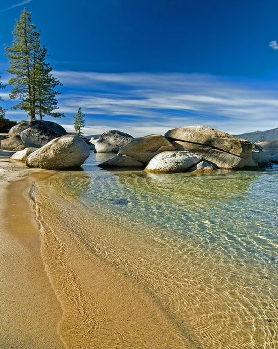 Lake Tahoe Nevada Too Cold To Swim In But I Could Stare At This Crystal Clear Lake For Hours Places To Travel Kings Beach Lake Tahoe Beach