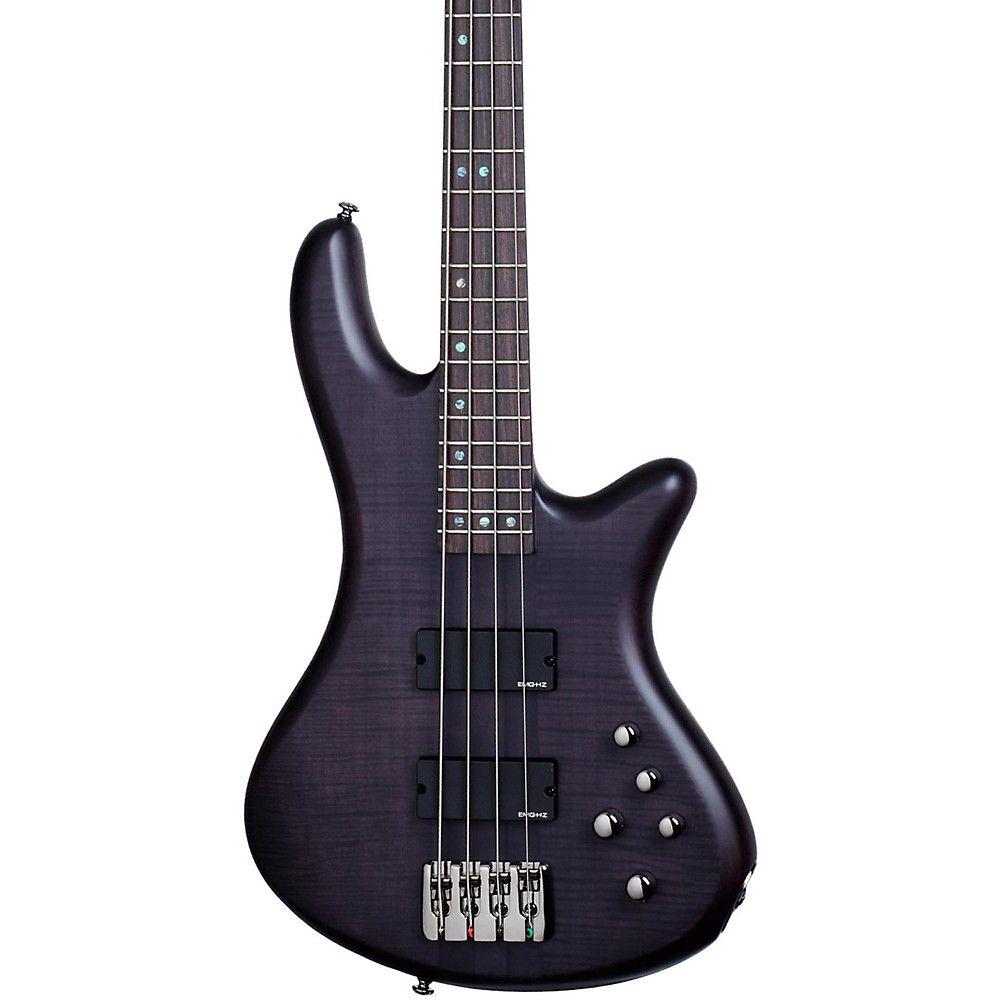 Schecter Guitar Research Stiletto Studio-4 Bass Satin See-Thru Black