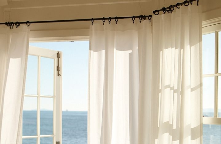 How To Hang Curtains Pottery Barn Hanging Curtains Living Room Drapes House Design