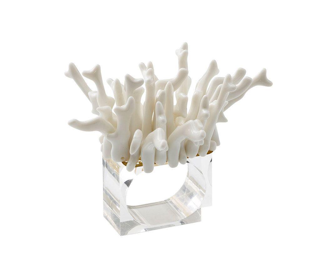 Amalfi Napkin Rings in White Set of 4 in 2020   Kim ...