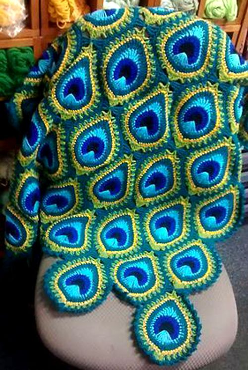 Easy Peacock Motif - Tutorial (Beautiful Skills - Crochet Knitting ...
