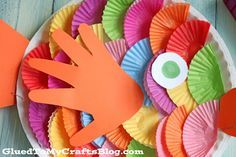 Cupcake Liner Fish - Kid Craft