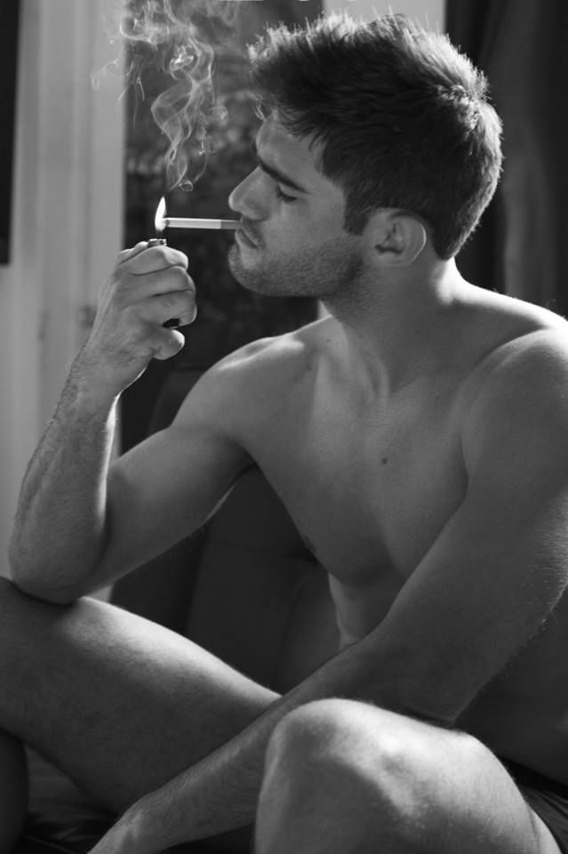 smoking Sexy man