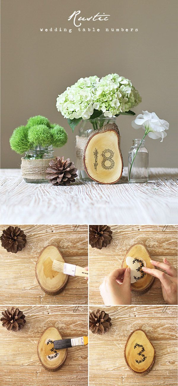 Top 10 Diy Wedding Table Number Ideas With Tutorials Table
