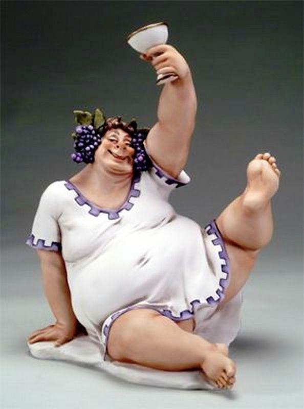 Днем рождения, смешная картинка толстухи