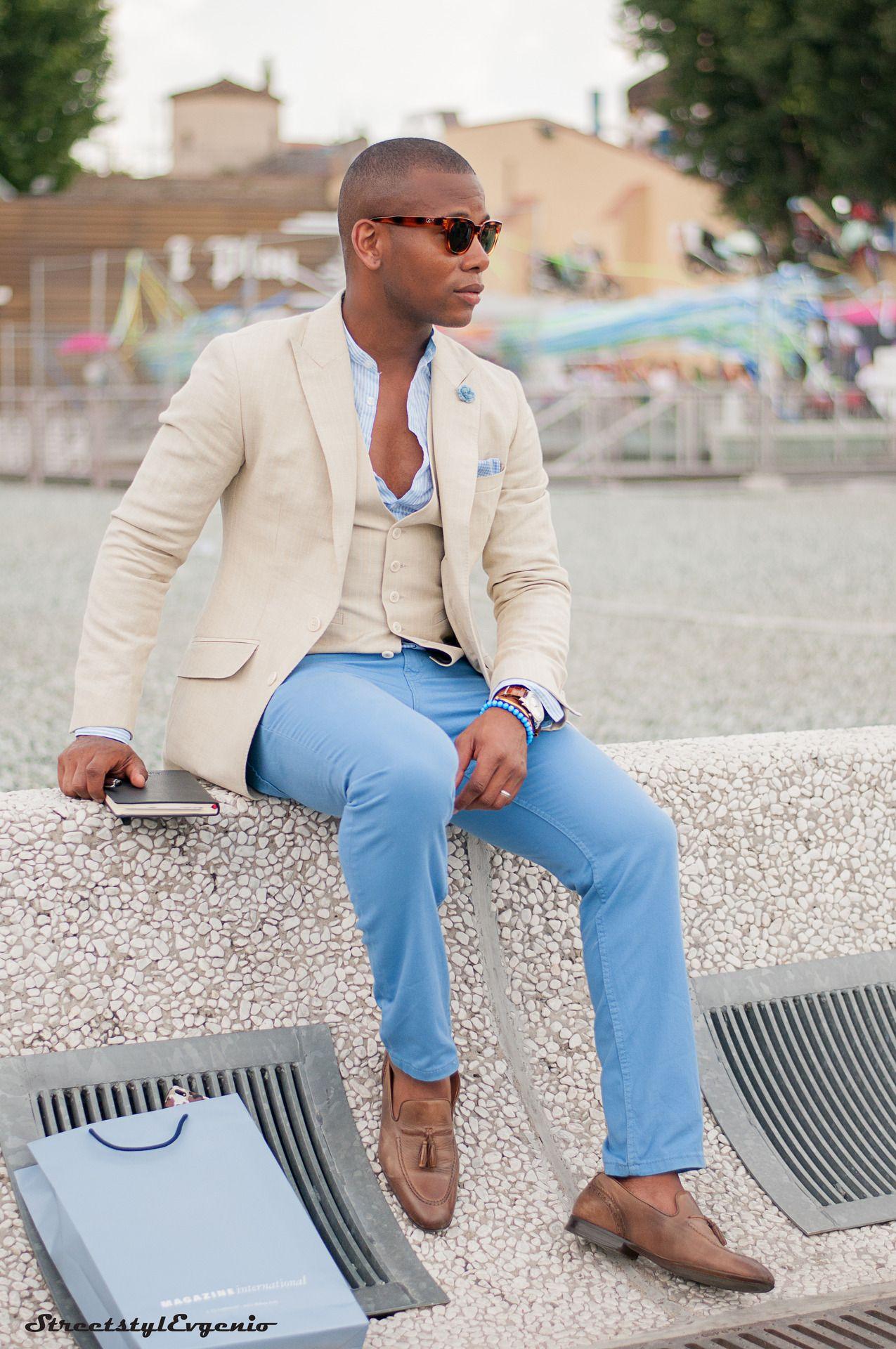 Broski Sabir Peele Men S Style Pro Blue Pants Outfit Mens