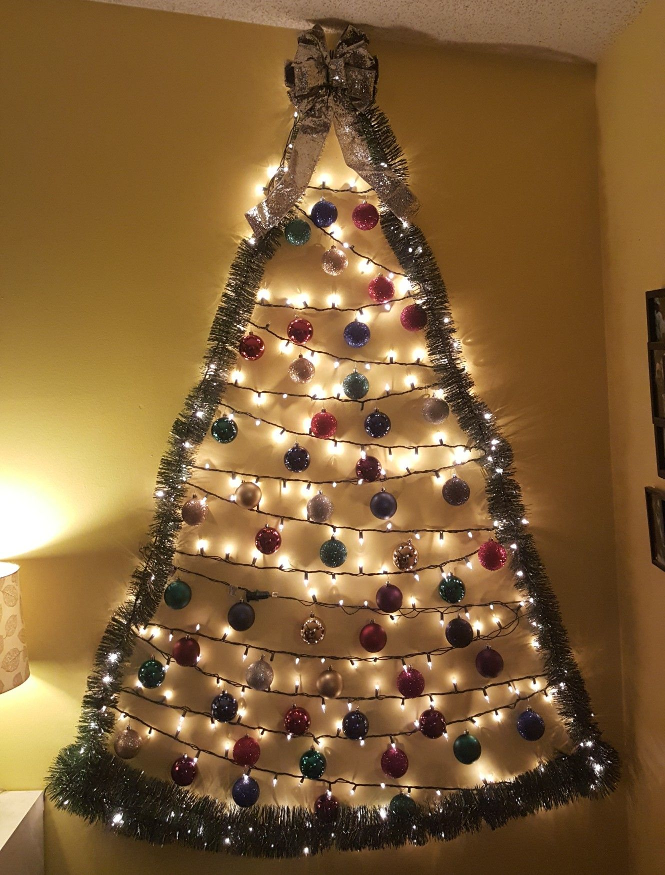 20+ Garland christmas tree on wall trends