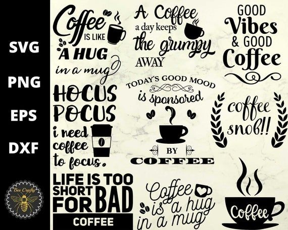 Get Coffee Lovers Bundle Of Svg Png Dxf Eps Cutting Files PNG