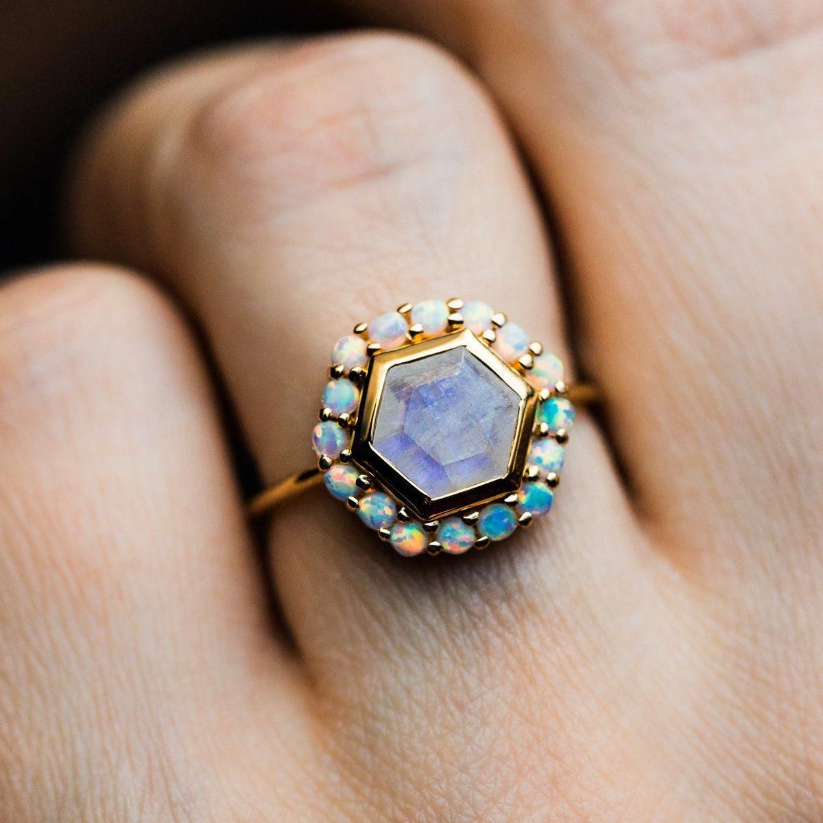 Local Eclectic Rings Moonstone