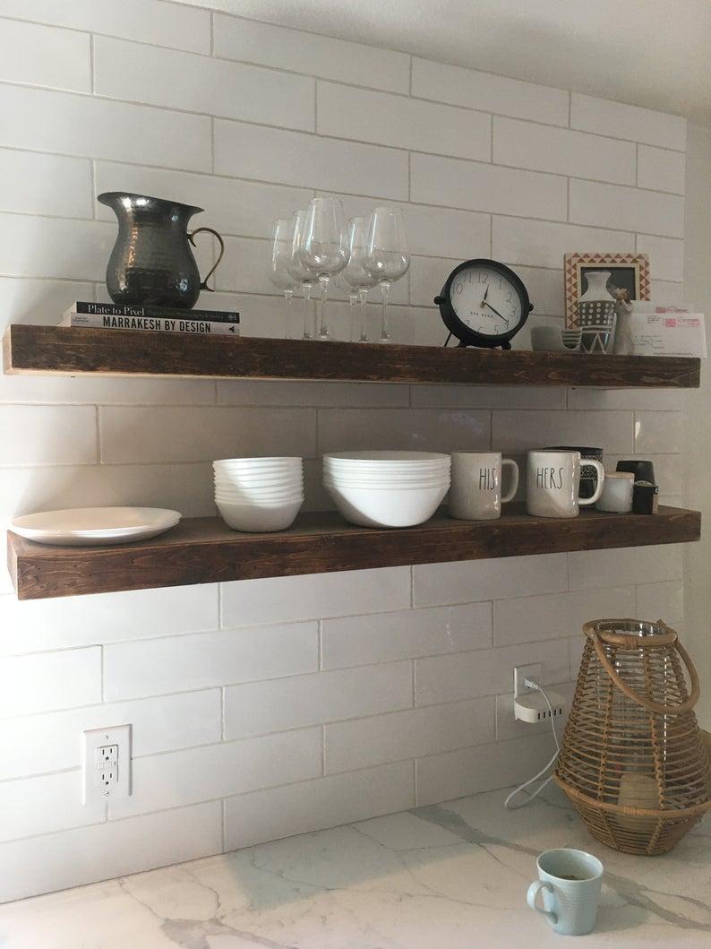 Wood Floating Shelf Floating Shelf Wall Shelves Wall Shelf Etsy In 2020 Wood Floating Shelves Floating Shelves Wooden Shelves